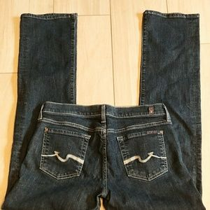 7 for all mankind dark jeans 30 x 32.5